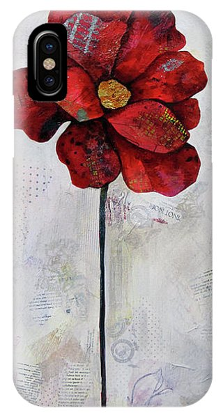 Cold iPhone Case - Winter Poppy II by Shadia Derbyshire