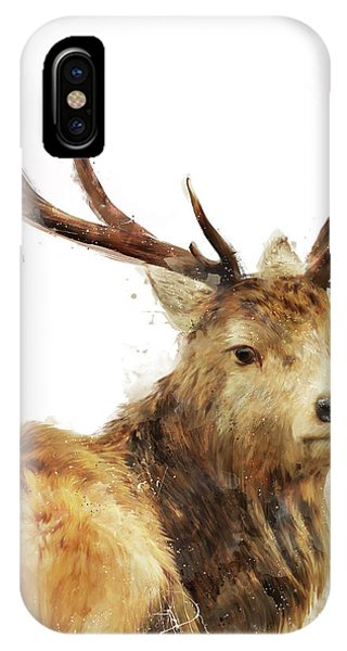 Stag iPhone Case - Winter Red Deer by Amy Hamilton