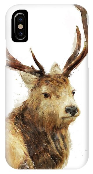 Buck iPhone Case - Winter Red Deer by Amy Hamilton