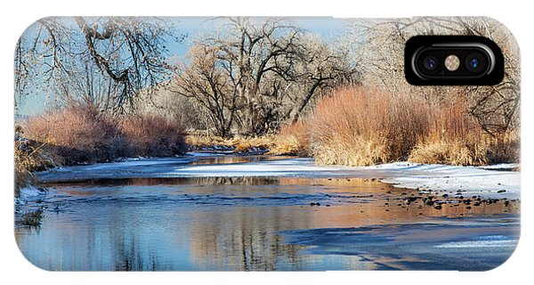 Winter River In Colorado IPhone Case