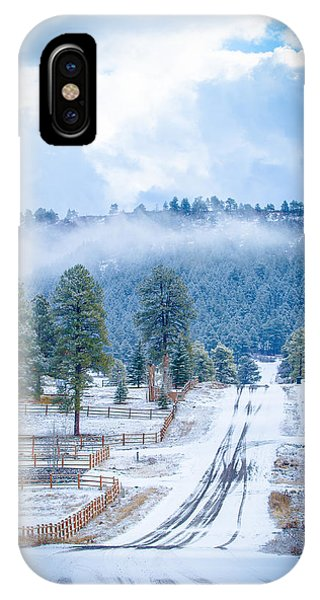 IPhone Case featuring the photograph Winter Road by Jason Smith