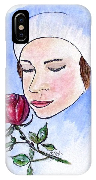 IPhone Case featuring the painting Winter Rose by Clyde J Kell