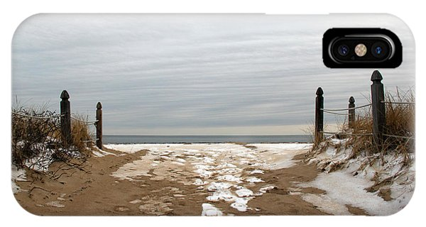 Orchard Beach iPhone Case - Winter Sands by Becca Wilcox
