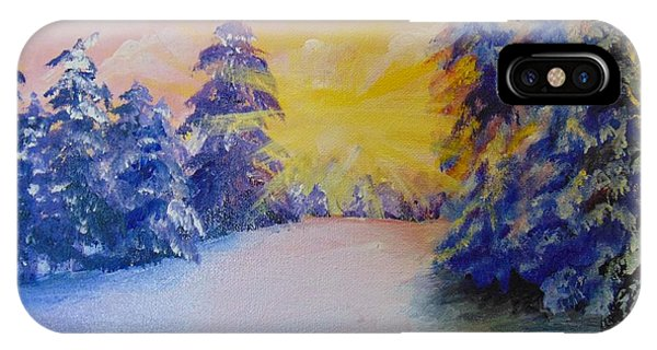 IPhone Case featuring the painting Winter by Saundra Johnson