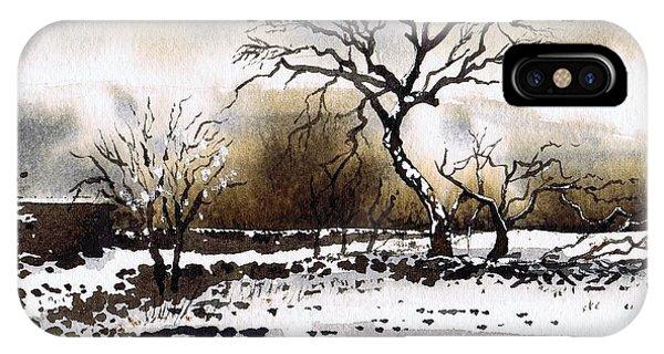 iPhone Case - Winter Scene Stainland by Paul Dene Marlor
