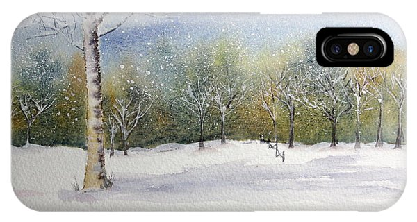 Winter Silence Phone Case by Jan Cipolla