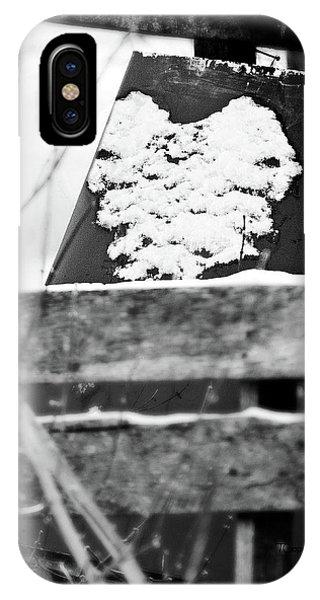 Winter Snow Heart IPhone Case