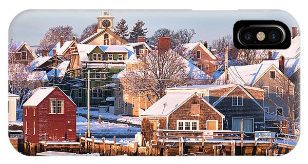 Winter Snowfall In Portsmouth IPhone Case