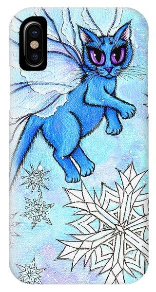 Winter Snowflake Fairy Cat IPhone Case