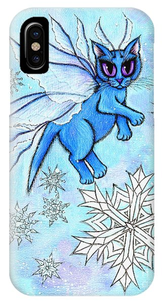 Winter Snowflake Fairy Cat IPhone Case