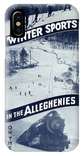 Winter Sports In The Alleghenies IPhone Case
