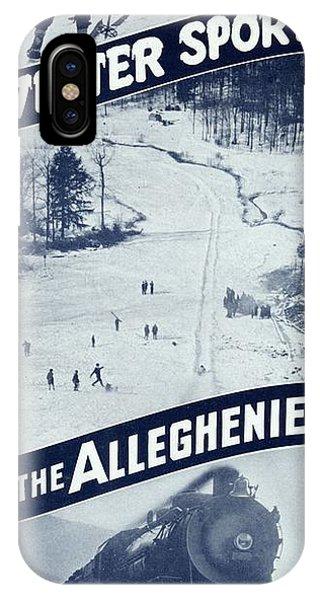 Winter Sports In The Alleghenies IPhone Case