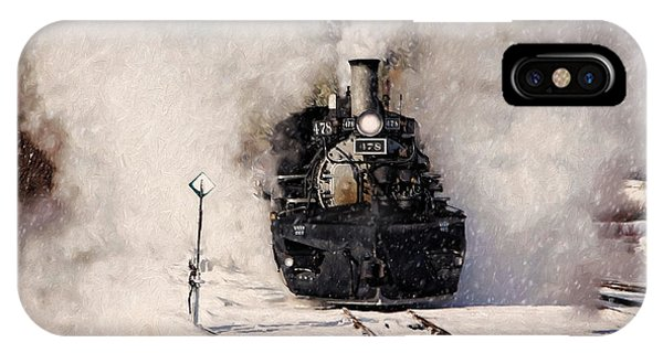 Winter Steam At Rockwood Colorado IPhone Case