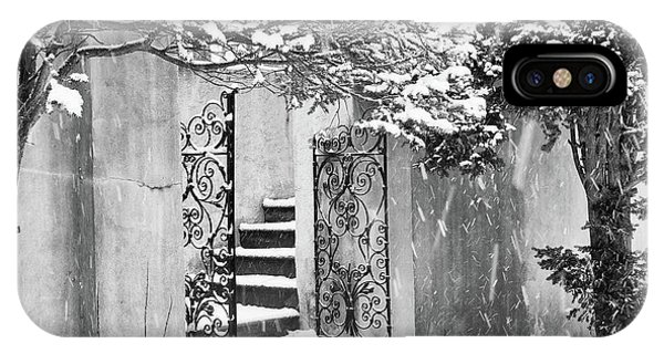 Winter Steps At The Vanderbilt In Centerport, Ny IPhone Case