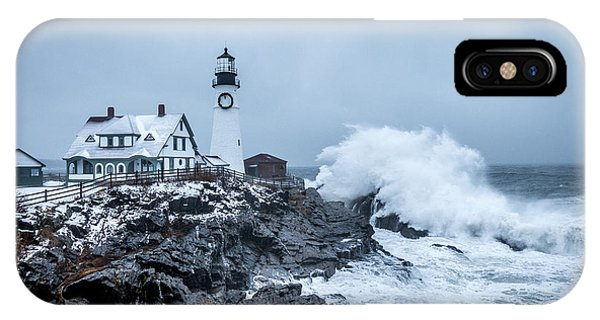 Winter Storm, Portland Headlight IPhone Case