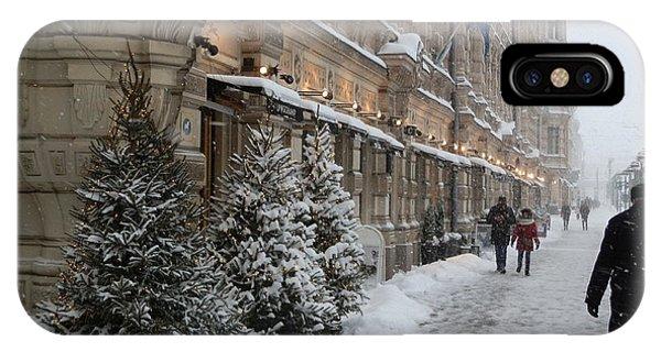 Winter Stroll In Helsinki IPhone Case