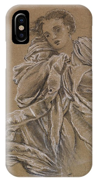 Winter Study Of Flying Drapery IPhone Case