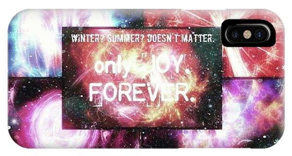 #winter #summer #joy #forever Phone Case by Michal Dunaj