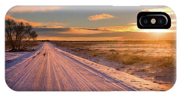 Winter Sunrise Light IPhone Case