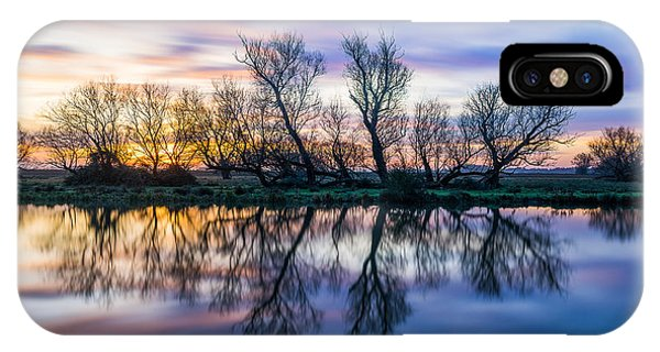 IPhone Case featuring the photograph Winter Sunrise Over The Ouse by James Billings