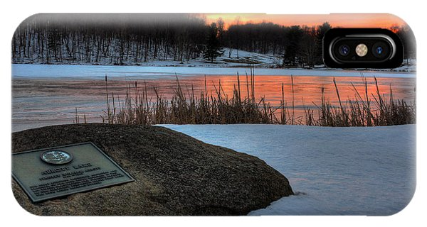 Winter Sunset Abbott Lake IPhone Case