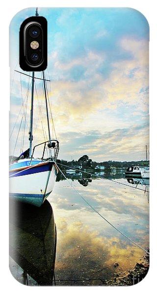 Winter Sunset At Mylor Bridge IPhone Case