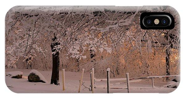 Winter Sunset Ft Hill Park IPhone Case