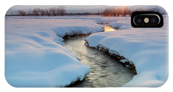 Winter Sunset In Rural Utah. IPhone Case