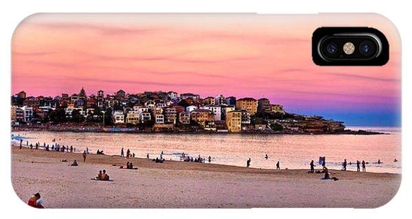 South Pacific Ocean iPhone Case - Winter Sunset Over Bondi by Az Jackson