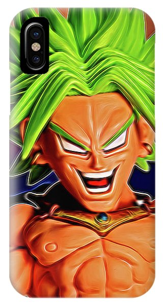 IPhone Case featuring the digital art Sunset Ss Broly by Ray Shiu