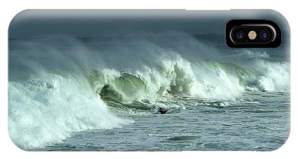 Winter Surf On Monterey Bay IPhone Case
