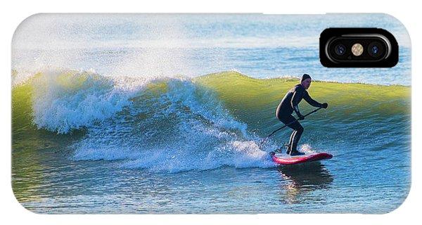Winter Surfing In Aberystwyth IPhone Case