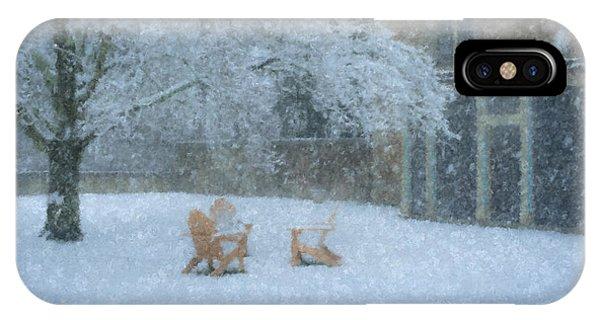 Winter Tea At Queset House IPhone Case