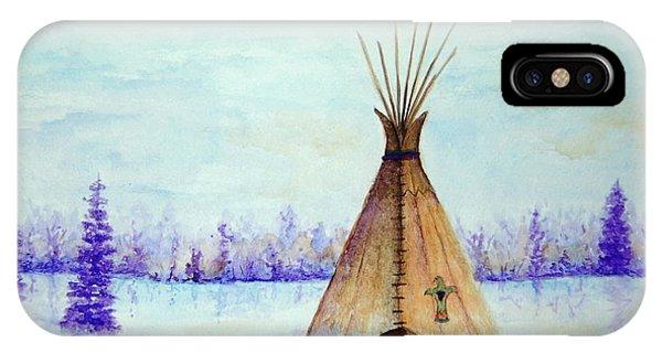 Winter Tepee IPhone Case