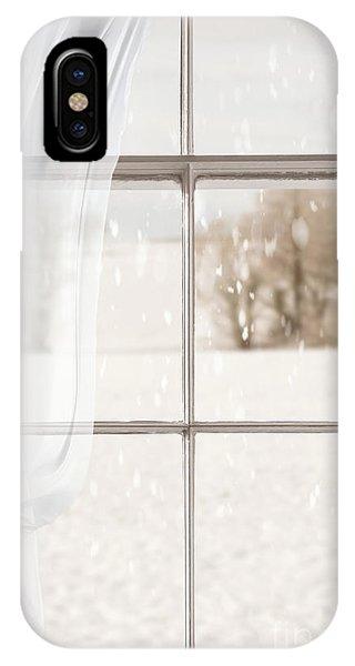 Treeline iPhone Case - Winter Through A Window by Amanda Elwell