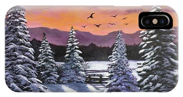 Winter Time Again IPhone Case