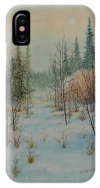 Winter Trail Alberta IPhone Case