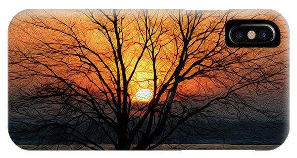 Winter Tree Sunrise IPhone Case
