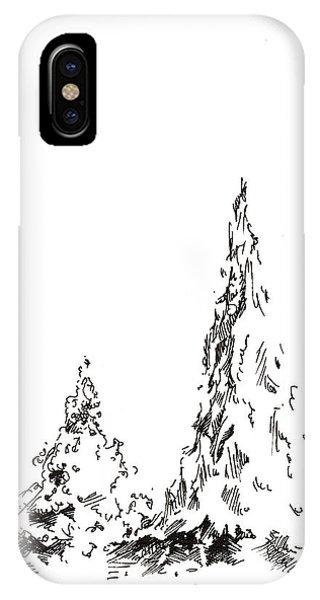 Winter Trees 2 - 2016 IPhone Case
