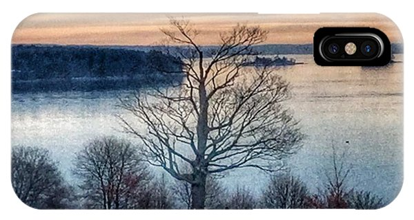 Winter Twilight At Fort Allen Park IPhone Case