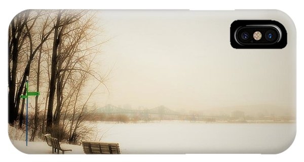 Winter View Over Montreal IPhone Case