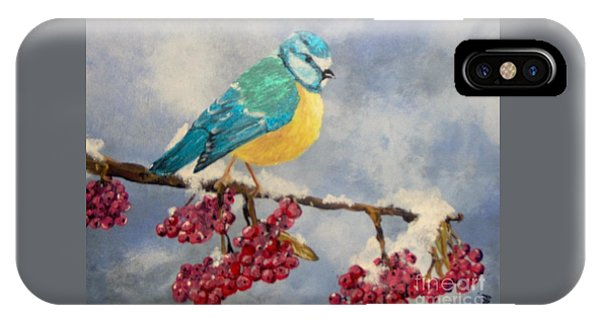 IPhone Case featuring the painting Winter Watch by Saundra Johnson