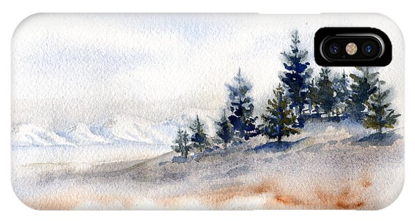 Winter Watercolor Painting IPhone Case