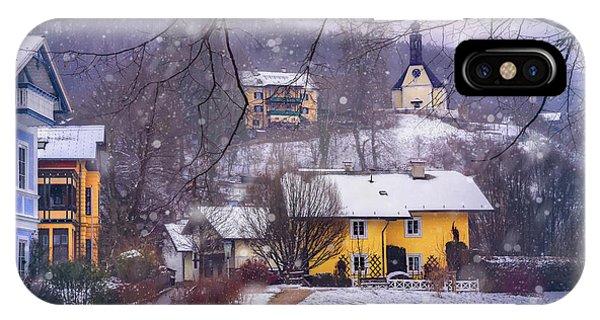 Winter Wonderland In Mondsee Austria  IPhone Case