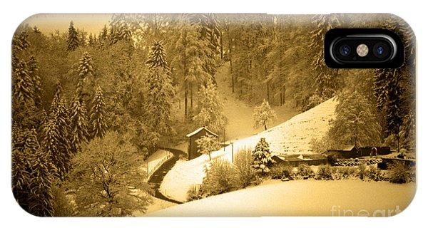 Winter Wonderland In Switzerland - Up The Hills IPhone Case