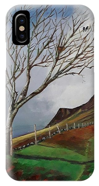 Winter's Day At Yewbarrow -painting IPhone Case