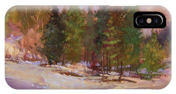 Winter's Eve Plein Air IPhone Case