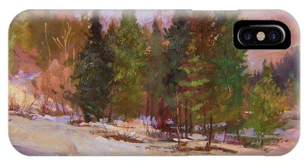 Betty Billups iPhone Case - Winter's Eve Plein Air by Betty Jean Billups