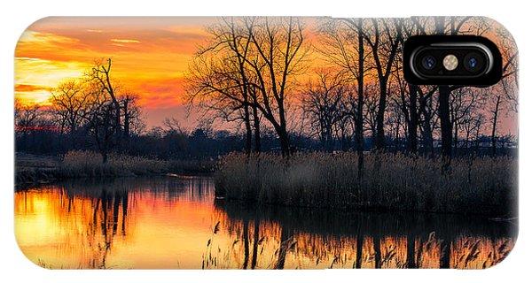 Winter's Last Sunset IPhone Case