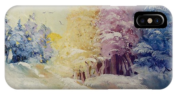 IPhone Case featuring the painting Winter's Pride by Helen Harris
